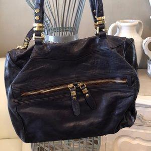 ORYANY Navy Leather Bag, NWOT
